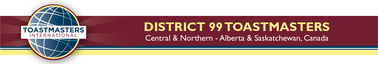 District 99 Toastmasters Retina Logo