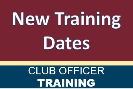 New Training Dates
